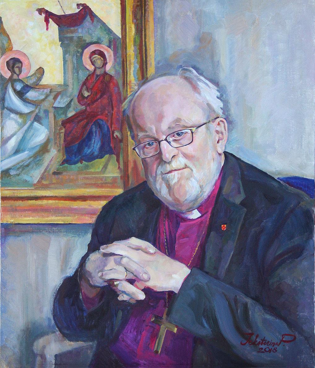 Porträtt på Biskop Sven-Bernhard Fast